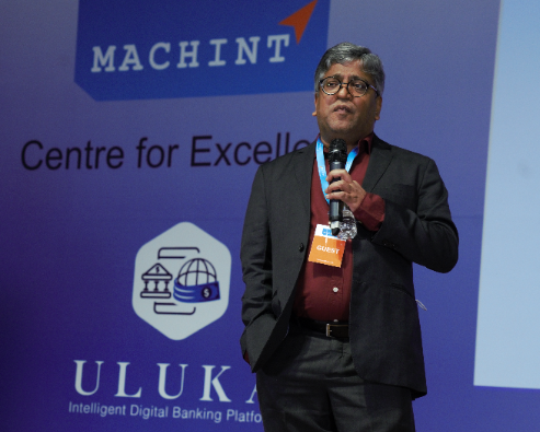 Sridhar Rallabandi addressing at the Uluka Launch Event